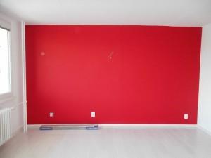 Malování obývacího pokoje v panelovém době Praha 001